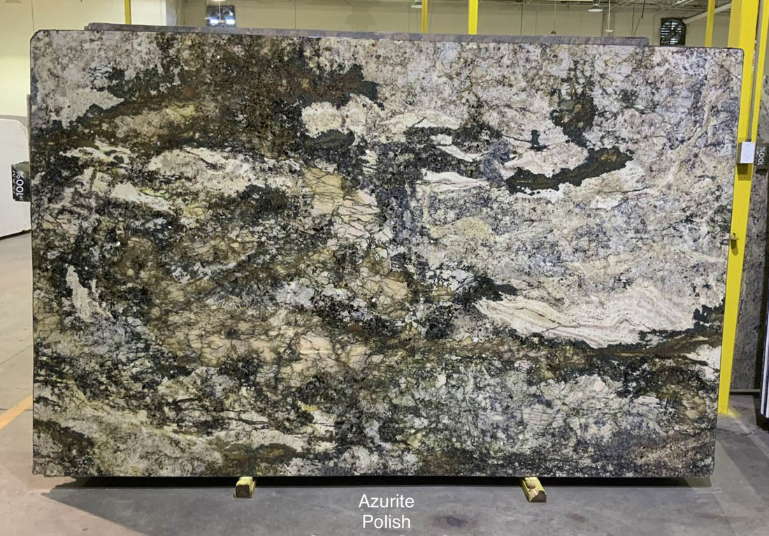 Azurite Quartzite Stone Slabs Polished Quartzite Slabs for Countertops