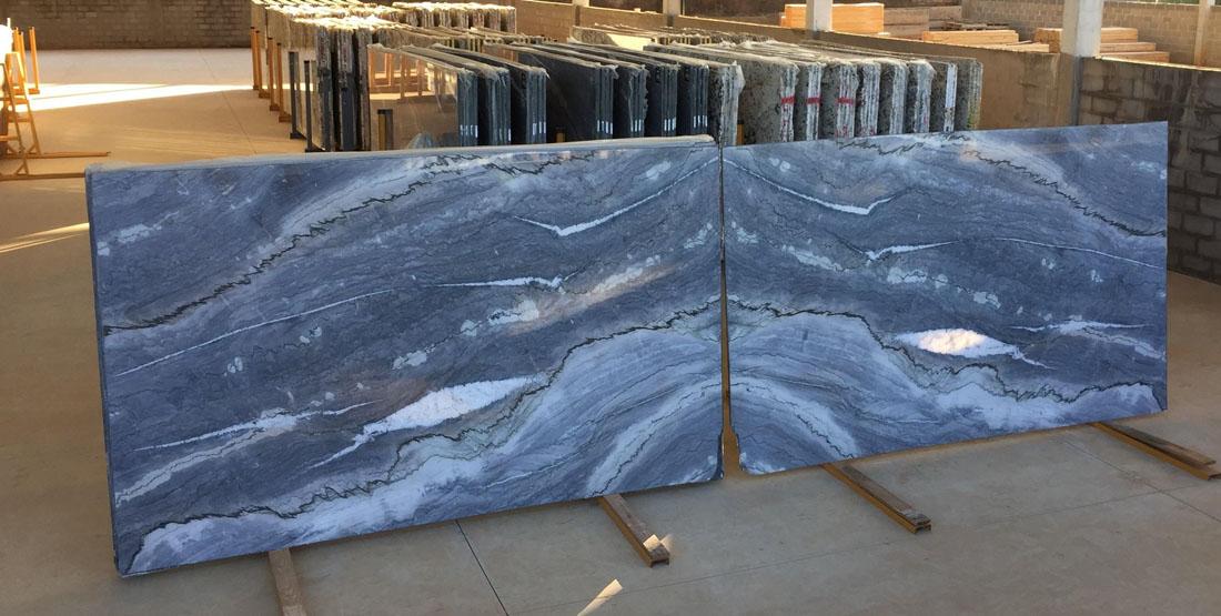 Azurro Quartzite Bookmatch Blue Brazilian Quartzite Slabs