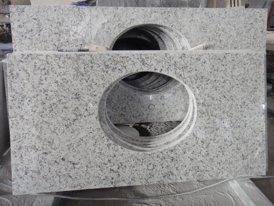 Bala White Granite Tops Polished White Granite Vanity Tops