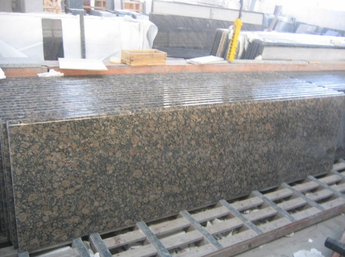 Baltic Brown Granite Prefab Countertops