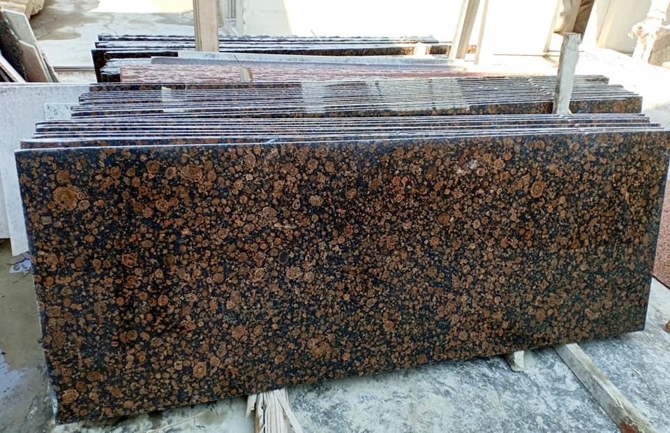 Baltic Brown Granite Slabs for Kitchen Countertops