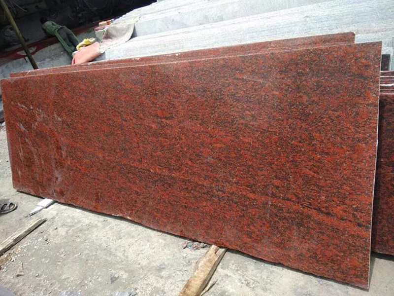Bangalor Red Polished Granite Slabs for Countertops