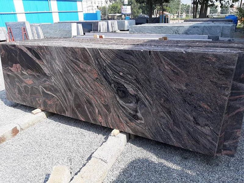 Bangalore Brown Granite Slabs Polished Slabs for Kitchen Countertops