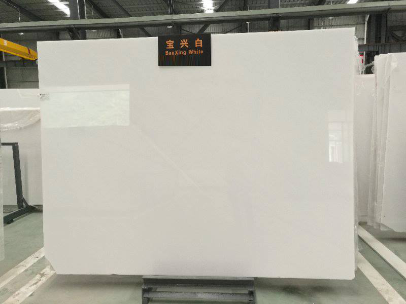 Baoxing Pure White Marble Slab Polished White Marble Slabs