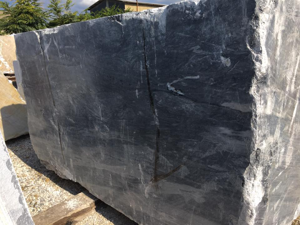 Bardiglio Nuvolato Italian Natural Black Marble Blocks