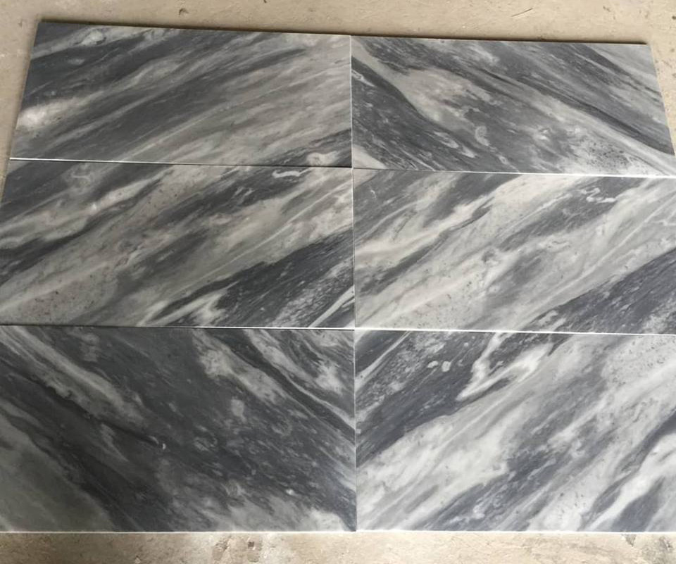 Bardiglio Polished Marble Tiles Chinese Grey Marble Tiles