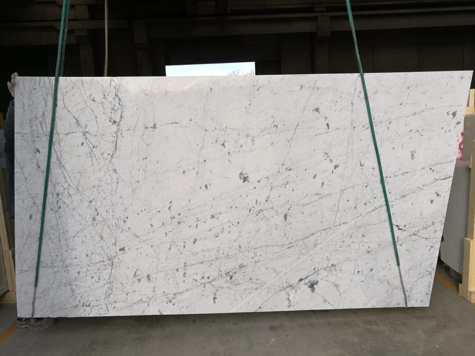 Beautiful Bianco Carrara Venatino Marble Slabs