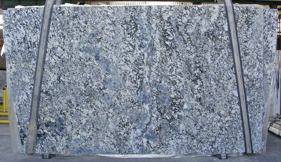 Beautiful Blue Flowers Granite Slabs Natural Stone Slabs