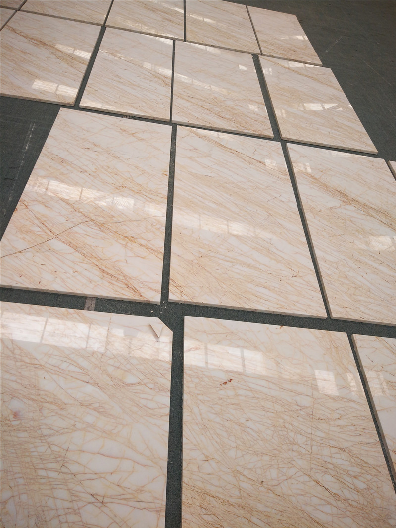 Beautiful Greece Spider Cream Marble Polished Tiles