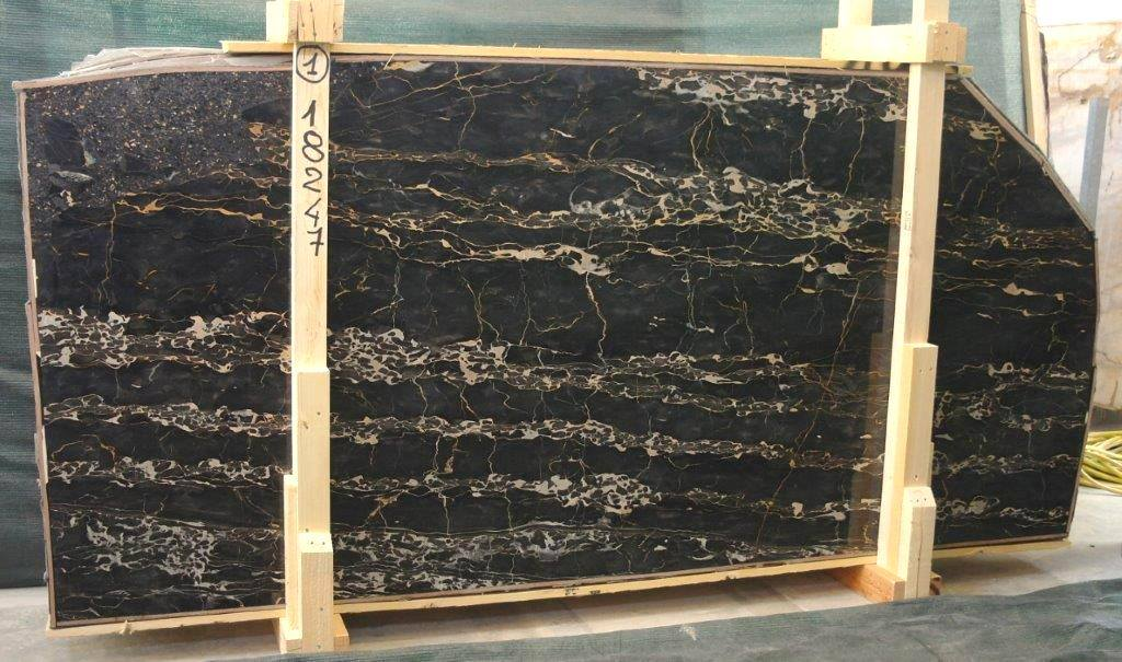 Beautiful Portoro Marble Slabs Polished Black Marble Slabs