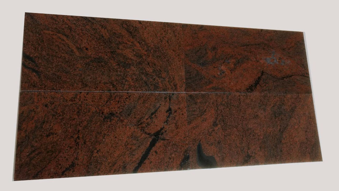 Beautiful Red Multicolour Tiles Polished Granite Tiles for Flooring