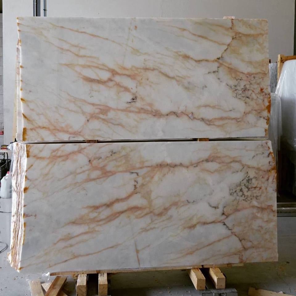 Beautiful Rosa Aurora Marble Tiles Bookmatched Marble Tiles