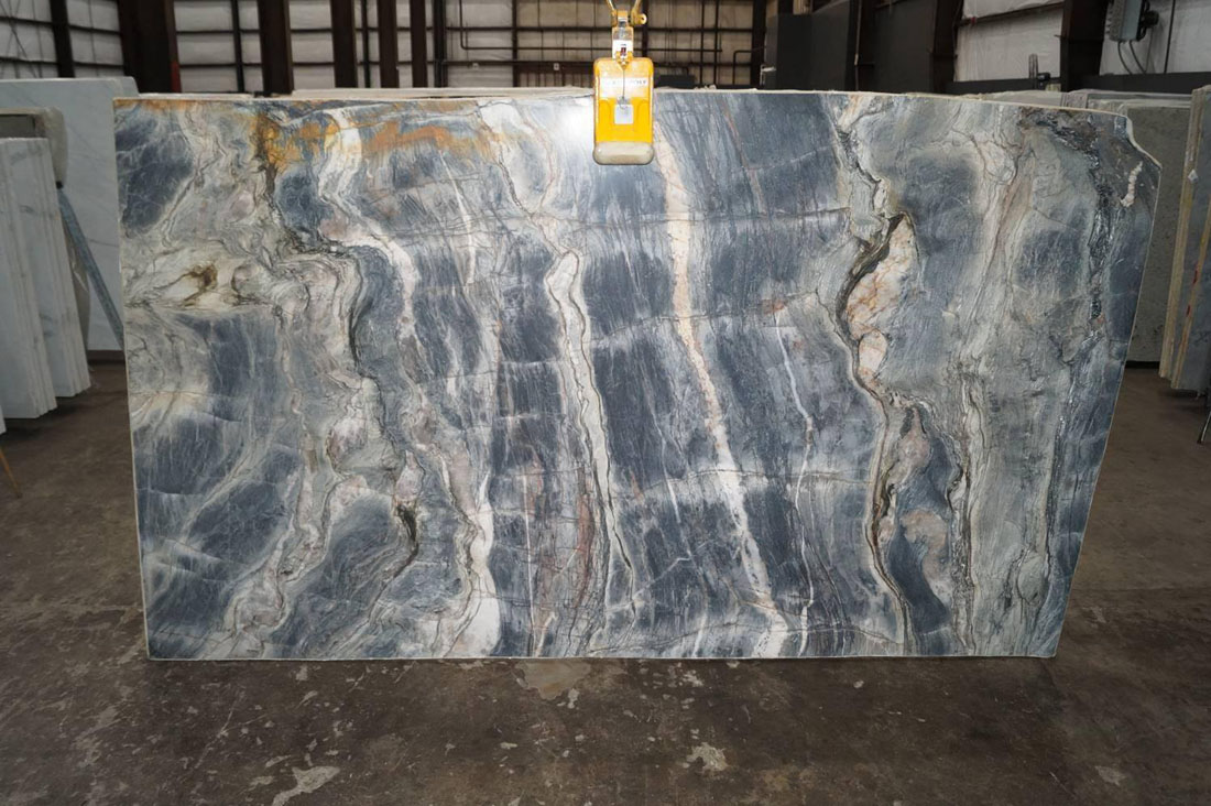 Beautiful Tempest Blue Quartzite Slabs