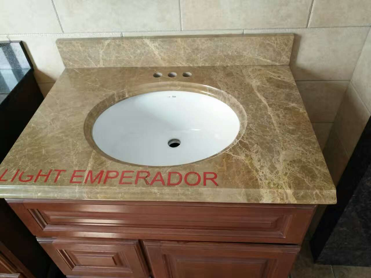 Turkish Light Emperador Marble Brown Marble Vanity Tops