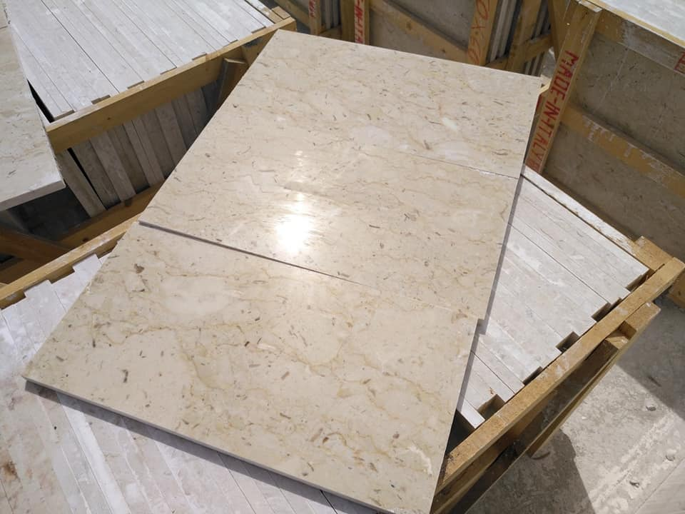 Beige Polished Marble Tiles Perlato Sicilia Tiles