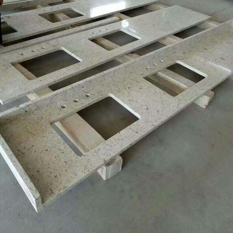 Beige Quartz Countertops with High Quality