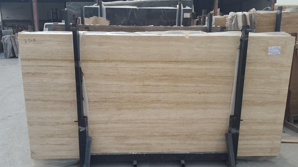 Beige Travertine Light Stone Slabs