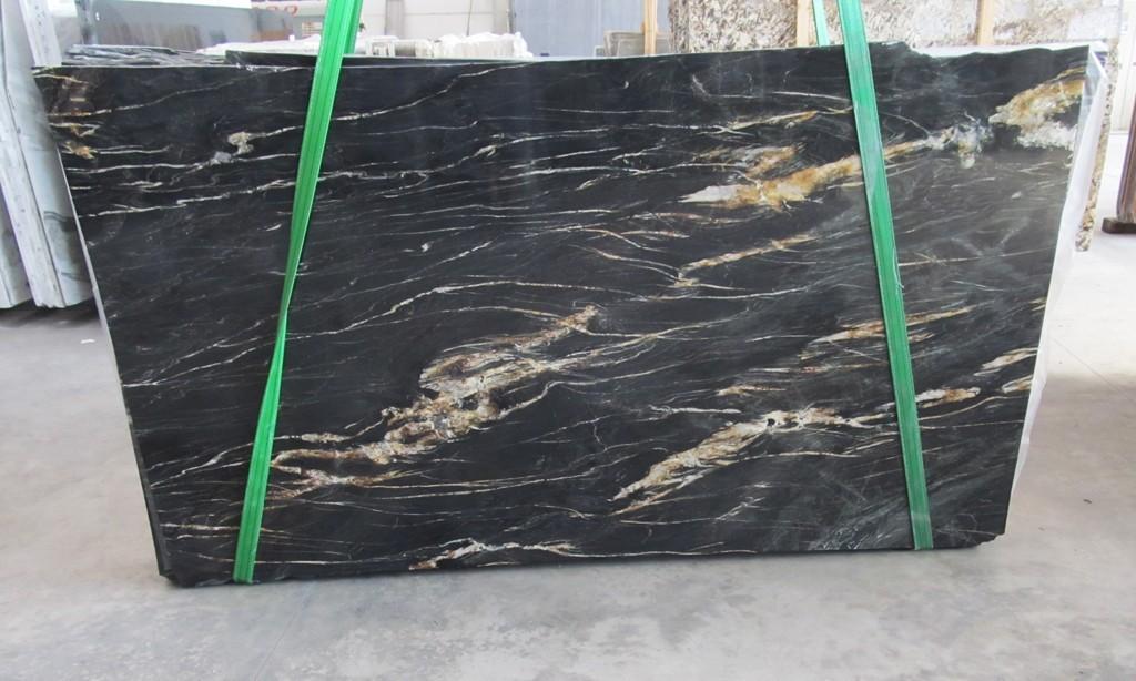 Belvedere Natural Black Gold Granite Slabs