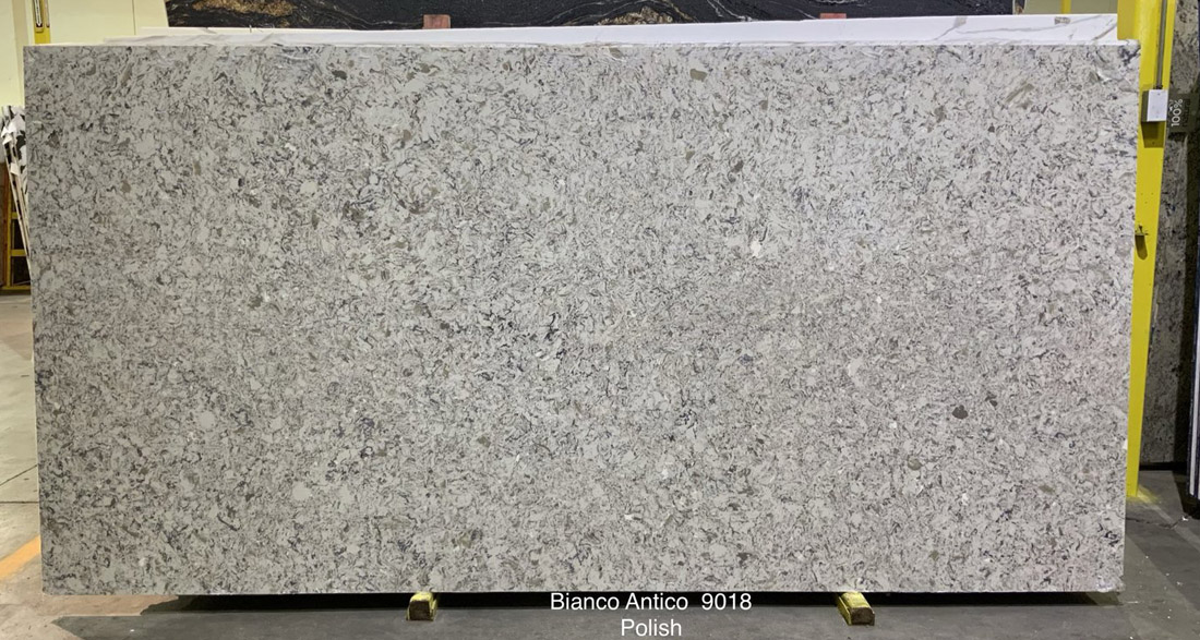 Bianco Antico Quartz Slabs Polished Grey Quartz for Countertops