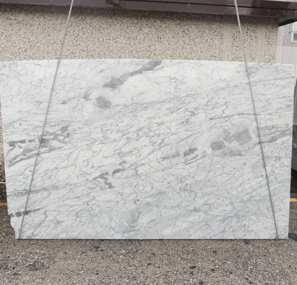 Bianco Arabescato White Marble Polished Slabs from Italy
