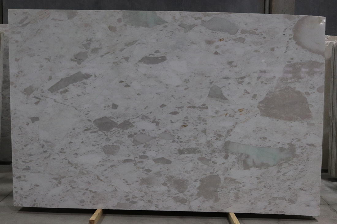 Bianco Brouille Marble Slabs Turkish White Marble Slabs