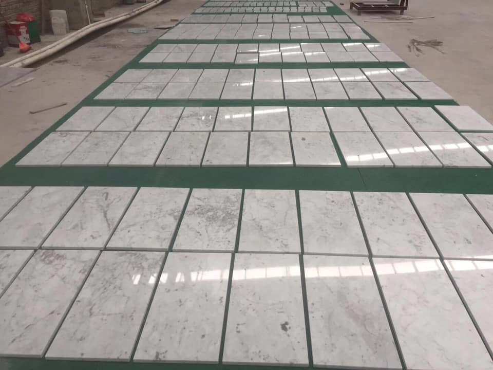 Bianco Cararra Marble Polished White Tiles with High Quality