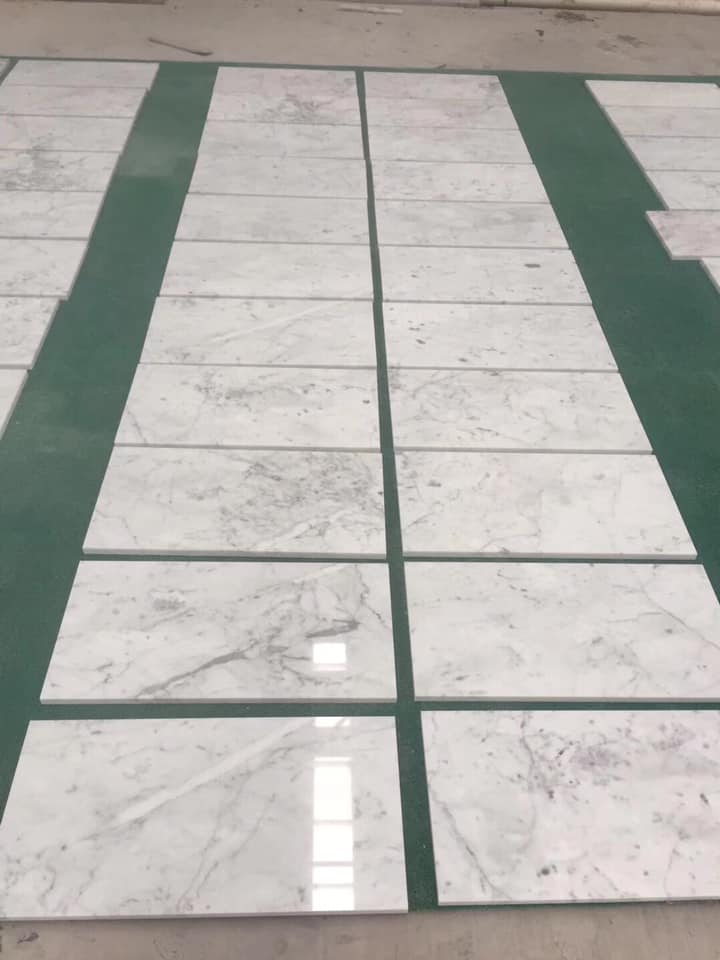 Bianco Cararra Marble Stone Tiles with High Quality