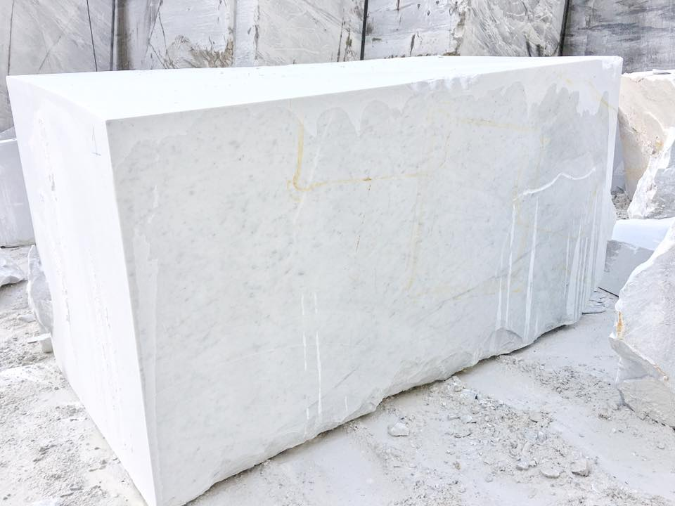 Bianco Carrara C Extra White Marble Blocks