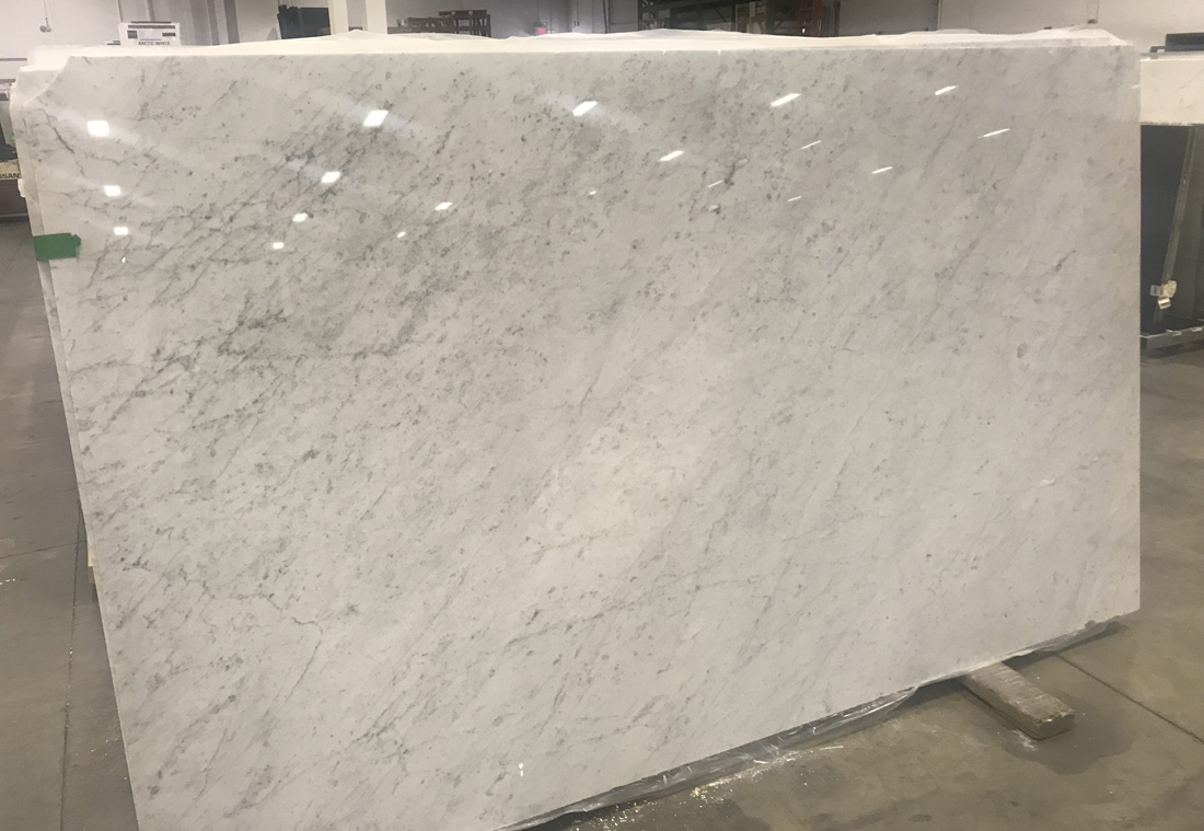 Bianco Carrara C Marble Slabs High Quality Polished White Marble Slabs