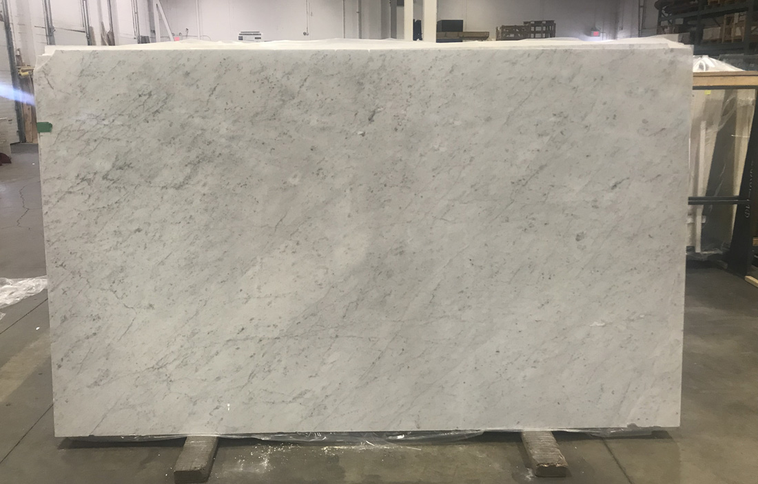 Bianco Carrara C Marble Slabs for Vanity Tops