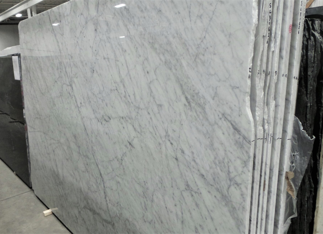 Bianco Carrara C Polished Honed 2cm White Marble Slabs