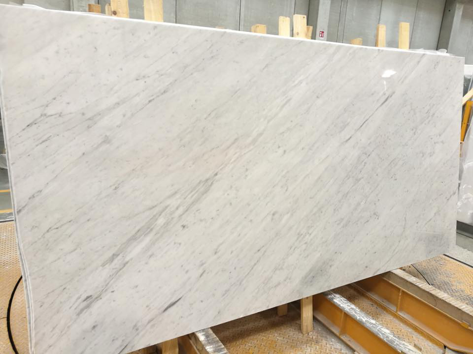 Bianco Carrara C Polished White Marble Slabs