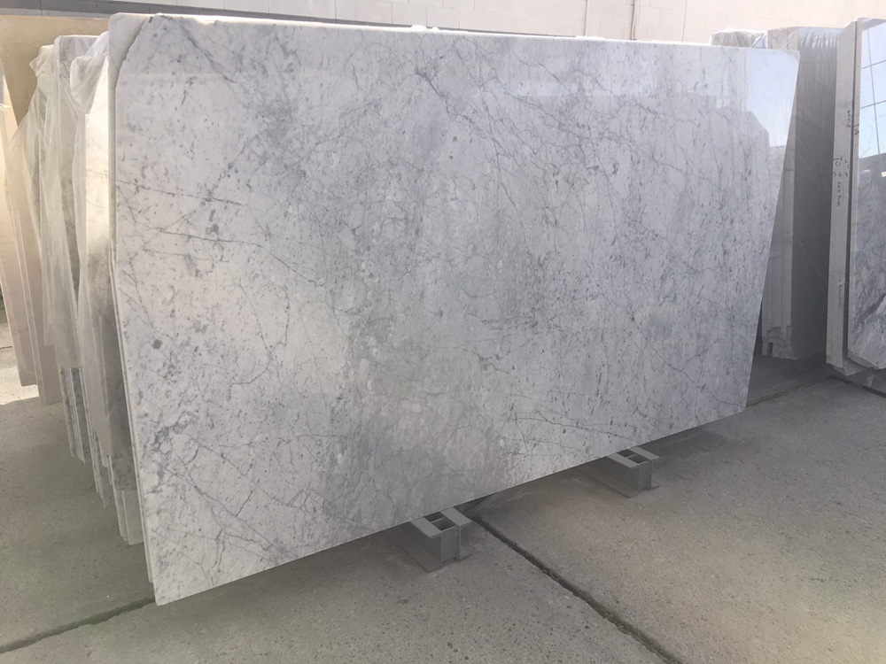 Bianco Carrara CD Polished White Marble Slabs