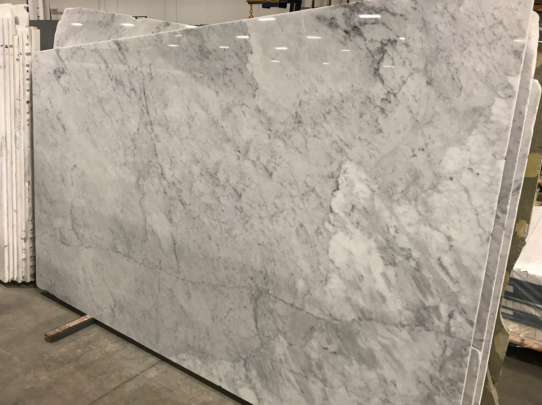 Bianco Carrara Cd Marble Polished Slabs for Bathroom Vanity Tops