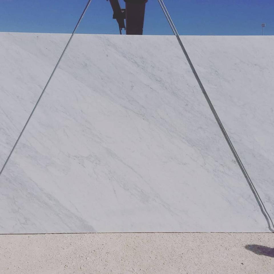 Bianco Carrara Polished White Marble Slabs