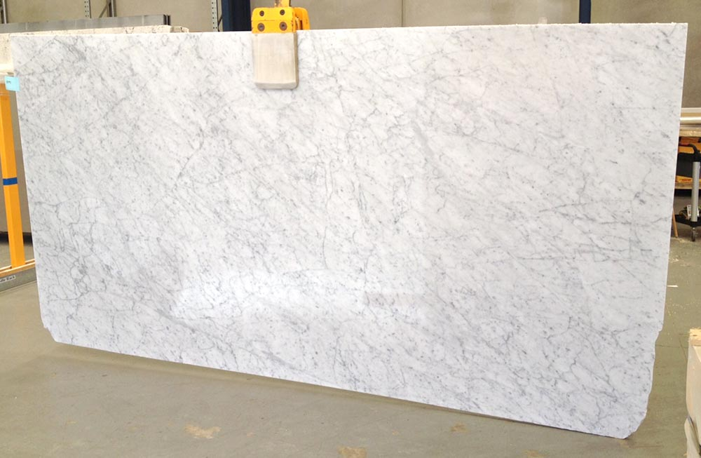 Bianco Carrara Slab White Polished Marble Slabs for Vanity Tops