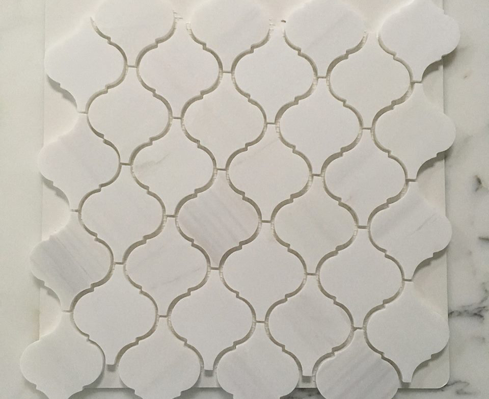Bianco DDolomiti Marble Mosaic Polished from China