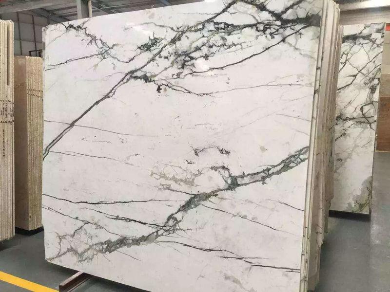 Bianco Damasco White Marble Polished Marble Slabs