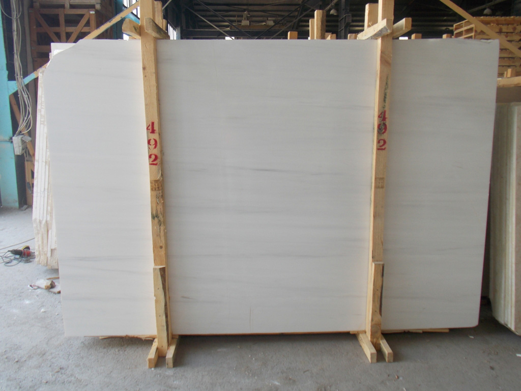 Bianco Doloite Stone Slabs Polished White Marble Slabs