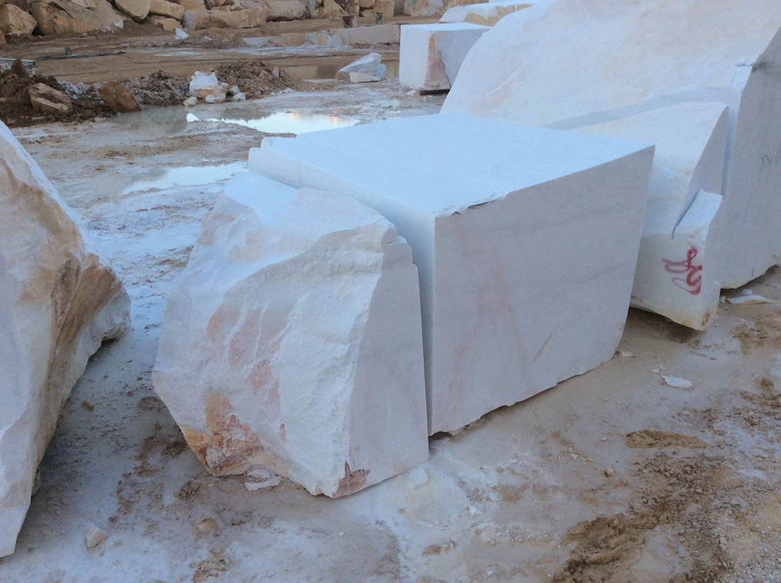 Bianco Dolomite Block White Natural Marble Blocks