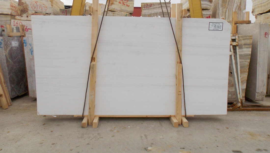 Bianco Dolomite Marble Slabs Polished White Marble Slabs