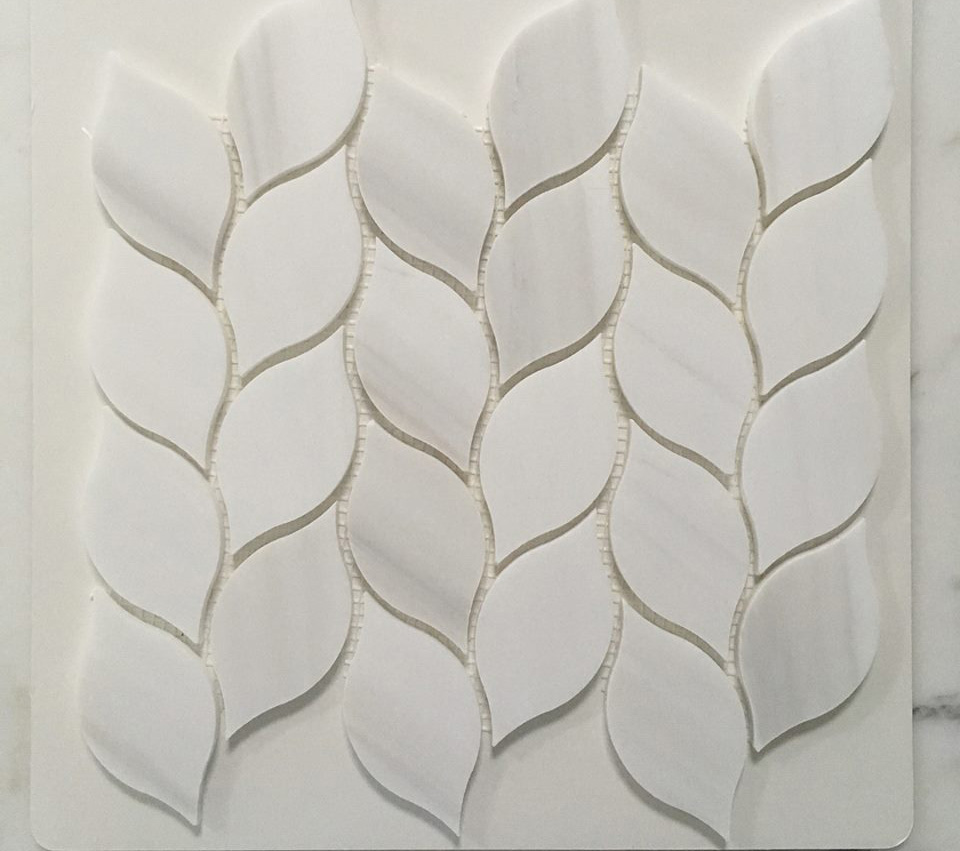 Bianco Dolomiti Marble Polished Mosaic Tiles