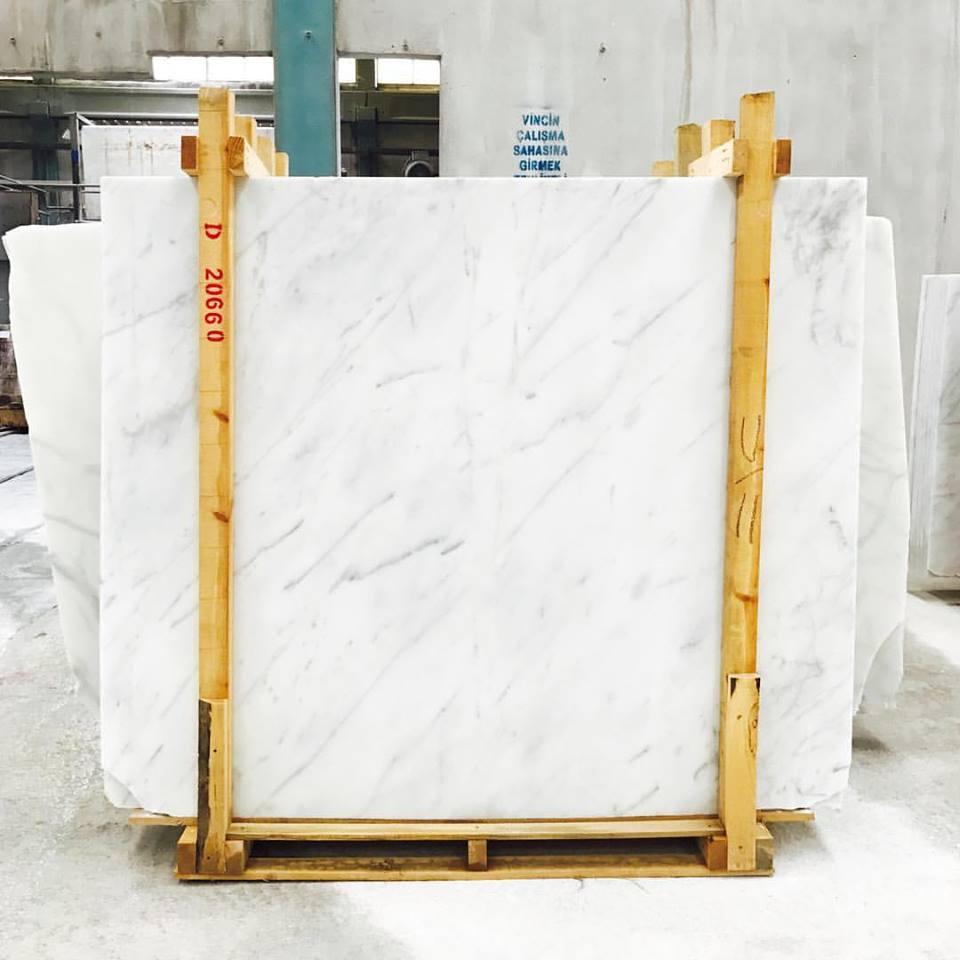 Bianco Ibiza Marble Slab White Marble Slabs from Turkey