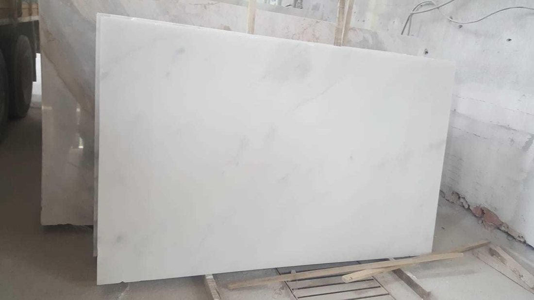 Bianco Ibiza White Marble Slabs from Turkey