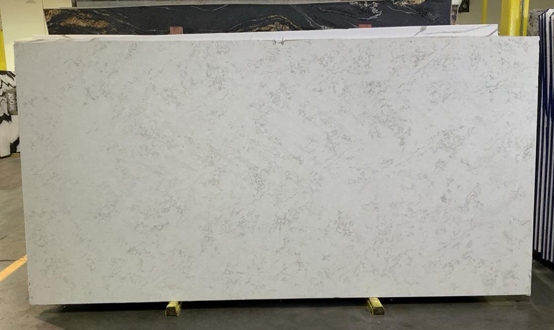 Bianco Palermo Quartz Polished Slabs for Kitchen Countertops