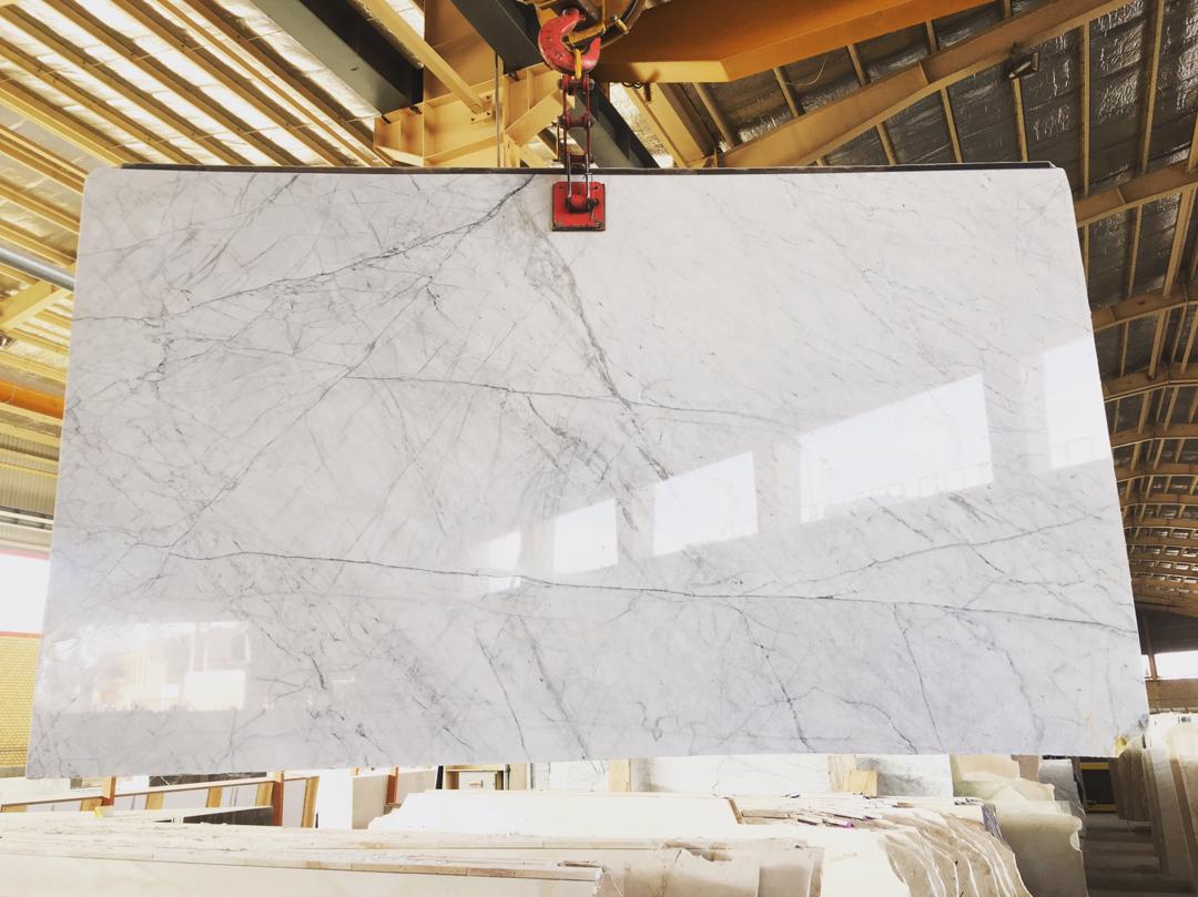 Bianco Slabs White Polished Marble Slabs from Iran