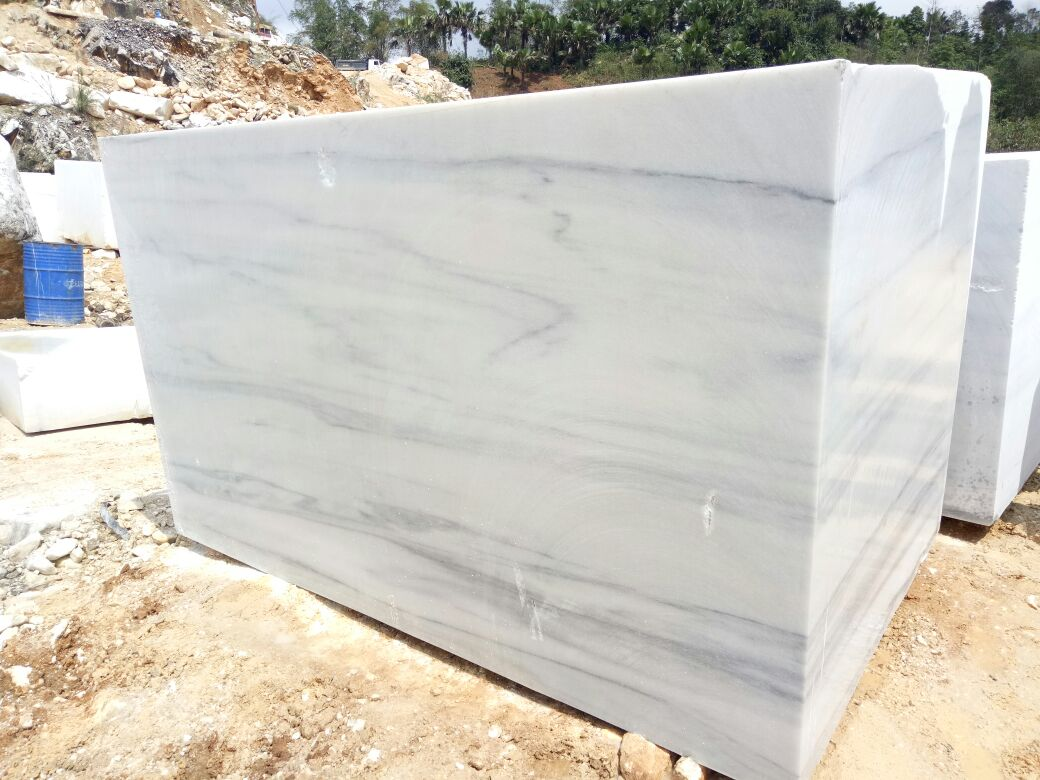 Bianco Striato Marble Blocks
