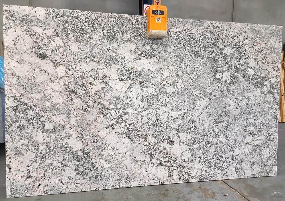 Bianco Typhoon Granite Slab Polished White Granite Stone Slabs