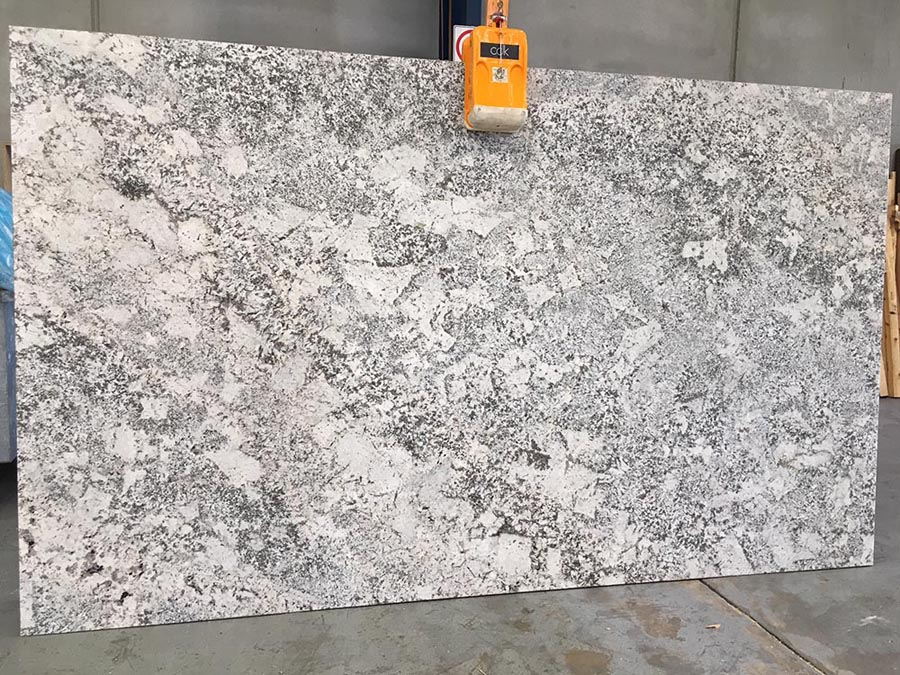 Bianco Typhoon Slab White Indian Granite Slabs