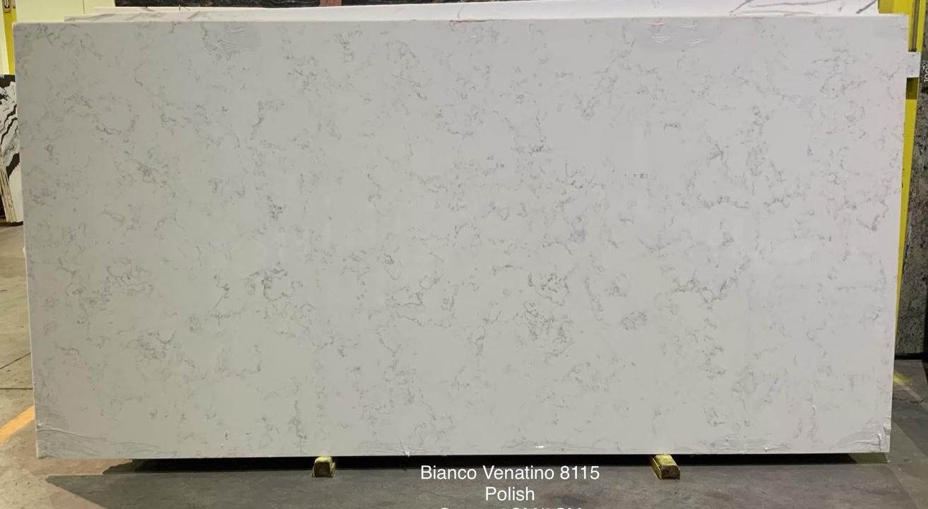 Bianco Venatino Quartz Slabs Polished White Artificial Stone Slabs
